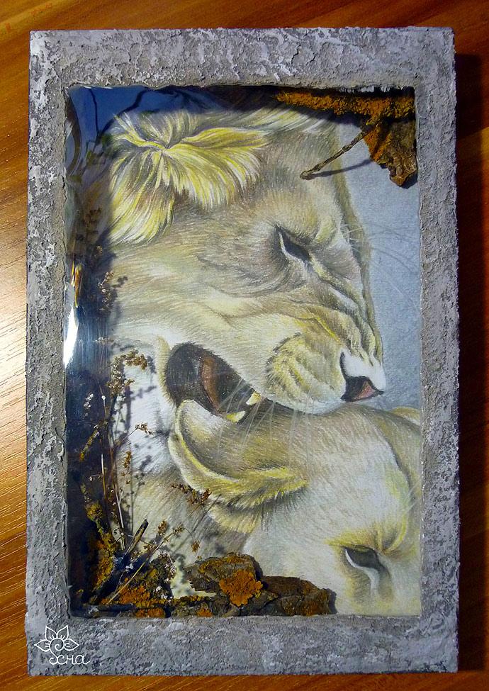 картина пастелью в технике терра