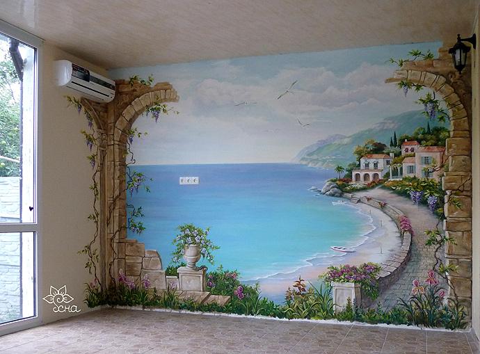 роспись стен средиземноморье