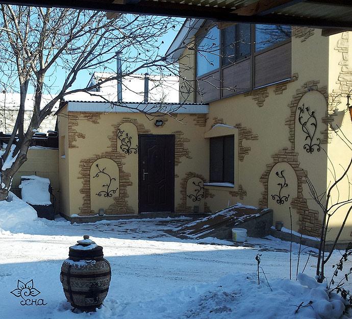 Роспись фасадов в Алчевске