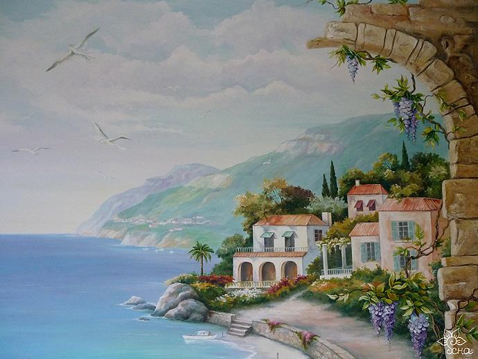 роспись стен в Балашихе море
