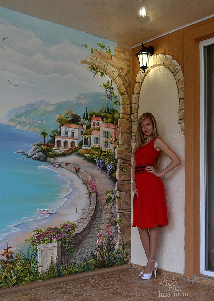 роспись стен море